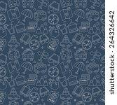 travel line icon pattern set | Shutterstock .eps vector #264326642