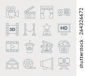 movie line icon set | Shutterstock .eps vector #264326672