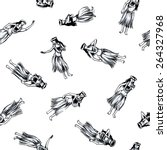 hula dance  | Shutterstock . vector #264327968