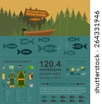 fishing infographic elements ... | Shutterstock .eps vector #264331946