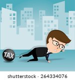 businessman and tax  business...   Shutterstock .eps vector #264334076