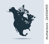 north america map | Shutterstock .eps vector #264336905