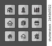 estate icons | Shutterstock .eps vector #264365522