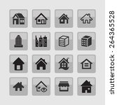 estate icons | Shutterstock .eps vector #264365528