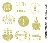 gluten free badges | Shutterstock .eps vector #264369668