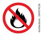 no fire vector sign | Shutterstock .eps vector #264374126