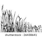 real grass  silhouette   vector ... | Shutterstock .eps vector #26438641