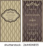 set of antique greeting cards ...   Shutterstock .eps vector #264404855