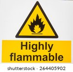 """highly flammable "" danger sign  