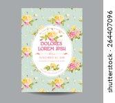 baby arrival or shower card  ... | Shutterstock .eps vector #264407096