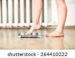 Caucasian Female Legs Gently...