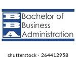 bba   bachelor of business... | Shutterstock . vector #264412958