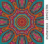 abstract tribal vintage ethnic... | Shutterstock .eps vector #264421586