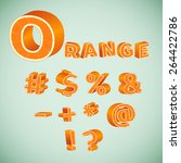 colorful 3d symbols with orange ... | Shutterstock .eps vector #264422786
