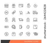 linear shopping e commerce line ...
