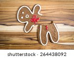 holiday cookie  a gingerbread... | Shutterstock . vector #264438092