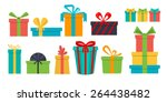 vector set of different gift...