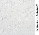 embossed snowflake pattern on... | Shutterstock . vector #264444032