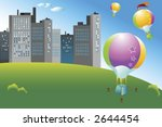 colorful hot air balloons... | Shutterstock .eps vector #2644454