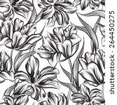 floral seamless pattern. flower ... | Shutterstock .eps vector #264450275