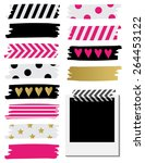 cute patterned washi tape... | Shutterstock .eps vector #264453122