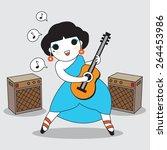 Cute Girl Plays Guitar...