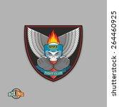 mixed martial arts labels....   Shutterstock .eps vector #264460925
