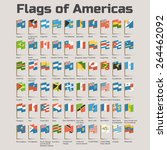 flags of americas. vector flat... | Shutterstock .eps vector #264462092