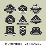 set of nine vintage badges on... | Shutterstock .eps vector #264464282