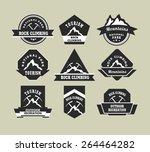 set of nine vintage badges on... | Shutterstock .eps vector #264464282