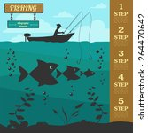 fishing infographic elements....