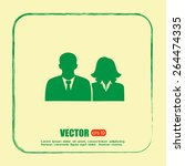 vector icon user group icon ... | Shutterstock .eps vector #264474335