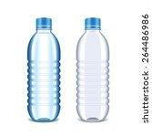 plastic bottle for water... | Shutterstock .eps vector #264486986