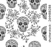 hand drawn day of the dead... | Shutterstock .eps vector #264488288