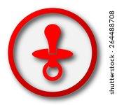 pacifier icon. internet button...   Shutterstock . vector #264488708