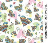 seamless pattern of drawing... | Shutterstock .eps vector #264491846