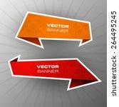 origami paper infographic... | Shutterstock .eps vector #264495245