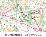 topographic vector map | Shutterstock .eps vector #264497132