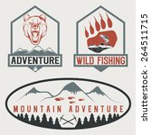 set of vintage adventure labels ... | Shutterstock .eps vector #264511715