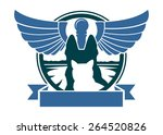 veterinary hospital symbol with ... | Shutterstock .eps vector #264520826