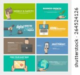set of flat web infographics... | Shutterstock .eps vector #264524126
