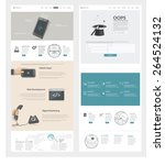 set of two flat pages website... | Shutterstock .eps vector #264524132