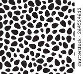 vector black eggs seamless...   Shutterstock .eps vector #264524612
