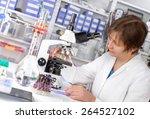 quality control. senior... | Shutterstock . vector #264527102