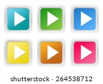 set of squared colorful buttons ... | Shutterstock . vector #264538712
