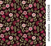 seamless pattern with... | Shutterstock .eps vector #264542348
