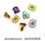 plastic alphabet isolated on... | Shutterstock . vector #264542858