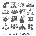 conference icons | Shutterstock . vector #264560816