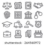 law line icons | Shutterstock . vector #264560972