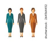 Set Of Vector Businesswomen In...